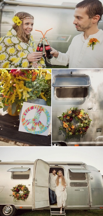 На свадьбе в стиле хиппи – кеды